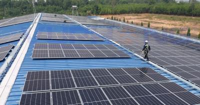Điện mặt trời mái nhà vẫn chờ quy định về công suất