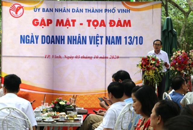 """TP. Vinh (Nghệ An): Tổ chức """"Gặp mặt – Tọa đàm"""" chào mừng ngày Doanh nhân Việt Nam"""