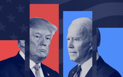 Đọ độ nổi tiếng của hai ứng viên tổng thống Donald Trump và Joe Biden trên mạng Internet