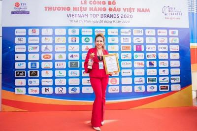 Collagen X3 của mỹ phẩm Đông Anh đạt giải Thương hiệu Hàng đầu Việt Nam