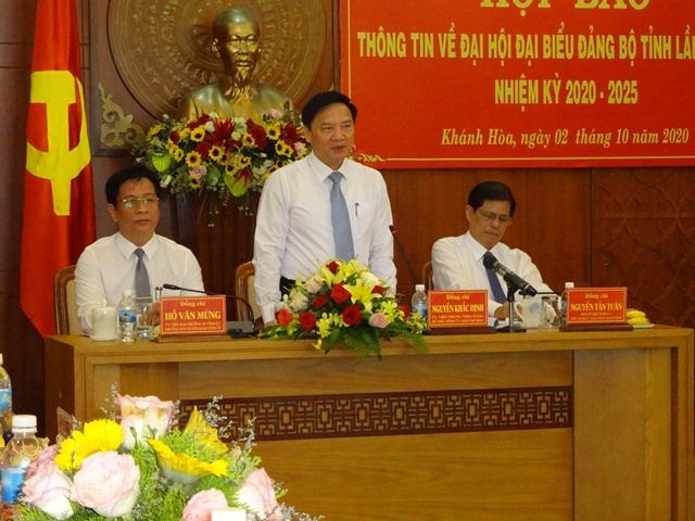 Đại hội Đảng bộ tỉnh Khánh Hòa  sẽ diễn ra trong 3 ngày 12, 13 và 14/10/2020