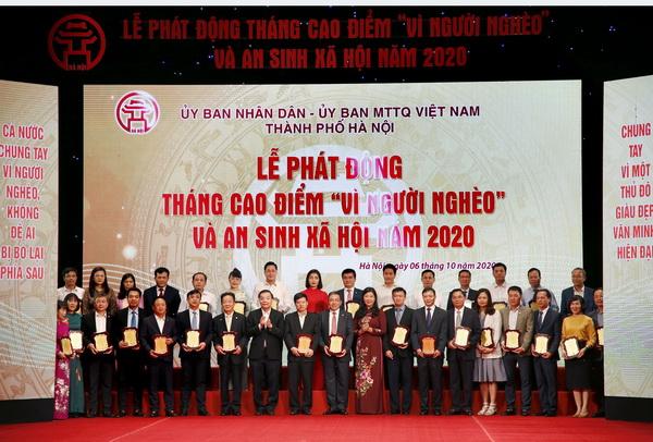 """BRG và Cty Liên doanh Thành phố Thông minh Bắc Hà Nội đóng góp 1 tỷ đồng """"Vì người nghèo"""""""