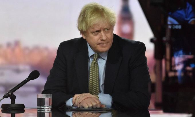 Thủ tướng Johnson trong cuộc phỏng vấn ngày 3/1.