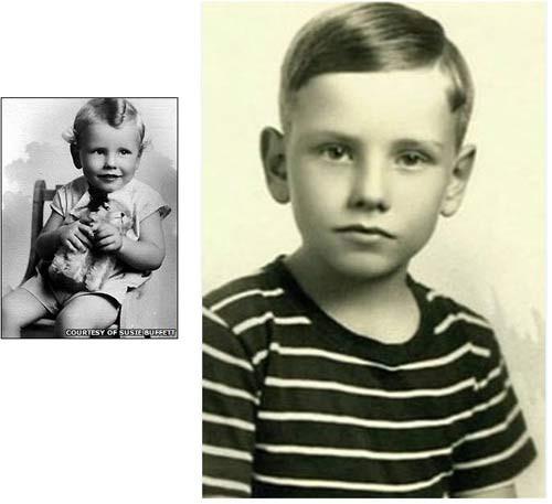 Ảnh Warren Buffett thời nhỏ.