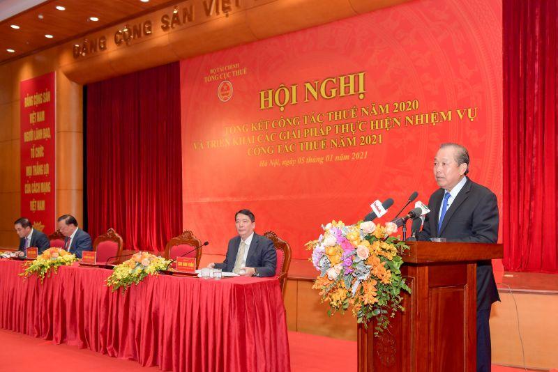 Uỷ viên Bộ Chính trị, Phó Thủ tướng Thường trực Chính phủ Trương Hoà Bình dự và phát biểu chỉ đạo tại Hội nghị