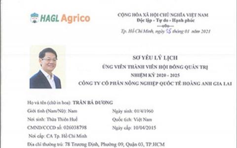Chủ tịch THACO ứng cử vào Hội đồng Quản trị HAGL Agrico