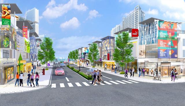 Phối cảnh khu phố thương mại tại Bến Cát Center City 2