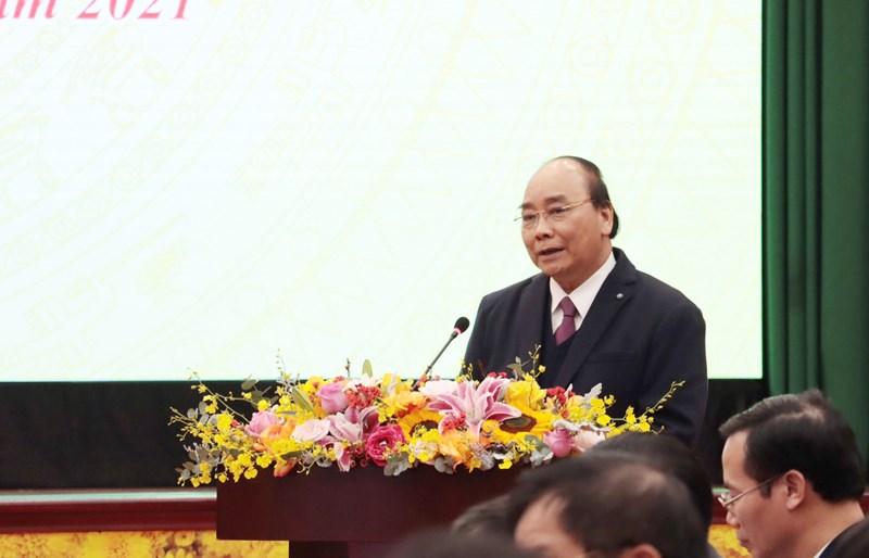 Thủ tướng Chính phủ Nguyễn Xuân Phúc đánh giá cao và biểu dương những kết quả ngành Tài chính đã đạt được.