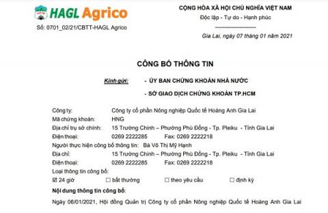 Thêm 3 công ty con của HAGL Agrico... về tay Công ty CPNN Trường Hải