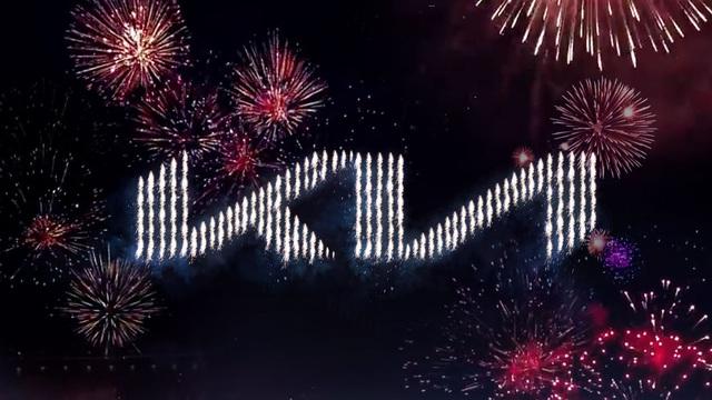 Hãng xe ô tô KIA ra mắt logo mới bằng màn bắn pháo hoa lập kỉ lục Thế giới