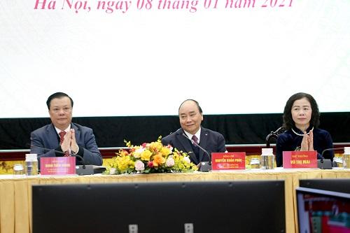 Thủ tướng Chính phủ Nguyễn Xuân Phúc dự và phát biểu chỉ đạo tại hội nghị.