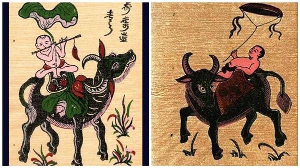 Hình tượng con trâu đã đi vào trong thơ ca, ca dao, tục ngữ, tranh Đông Hồ