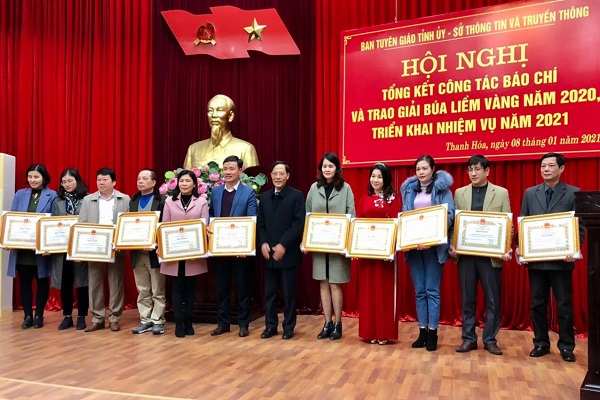 Thanh Hoá: Tổng kết công tác báo chí, xuất bản và trao Giải Búa liềm vàng năm 2020