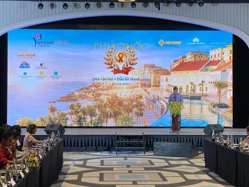 Lãnh đạo tỉnh Kiên Giang phát biểu chỉ đạo tại buổi hội thảo