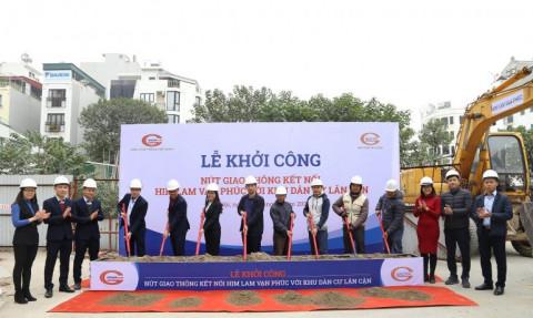 Khởi công nút giao thông kết nối giữa Him Lam Vạn Phúc  với khu dân cư lân cận