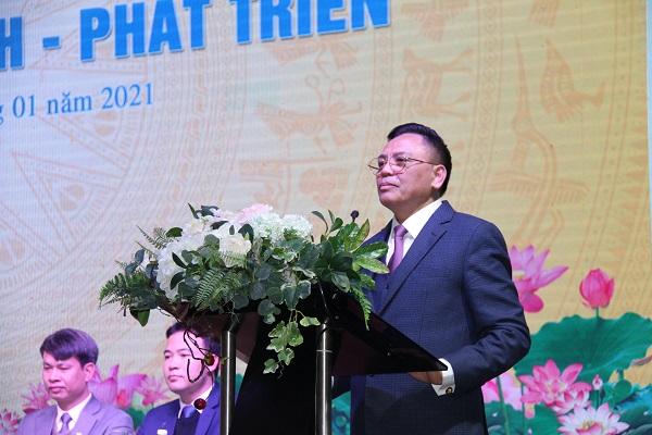 Ông Cao Tiến Đoan, Chủ tịch Hiệp hội Doanh nghiệp tỉnh Thanh Hóa phát biểu tại buổi Tọa đàm