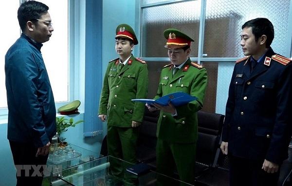 Cơ quan Cảnh sát điều tra, Công an tỉnh Quảng Bình thực hiện các thủ tục tố tụng đồi với Trương Tấn Lâm