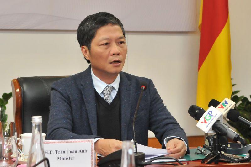 Bộ trưởng Trần Tuấn Anh phát biểu tại khóa họp