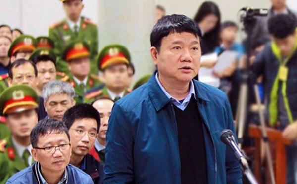 Cựu Bộ trưởng Đinh La Thăng trong phiên toà vụ án xảy ra tại PVC, PVN và OceanBank