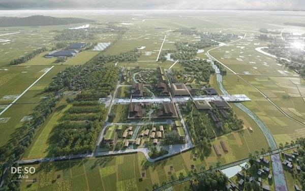 Phối cảnh Quy hoạch Bảo tồn, tôn tạo và phát huy giá trị Khu lưu niệm Chủ tịch Hồ Chí Minh tại Nghệ An