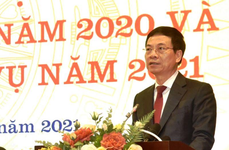 Bộ trưởng TT-TT Nguyễn Mạnh Hùng phát biểu