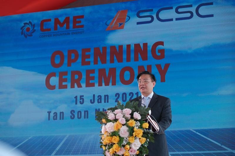 Ông Bùi Trung Kiên - Tổng Giám đốc CME phát biểu