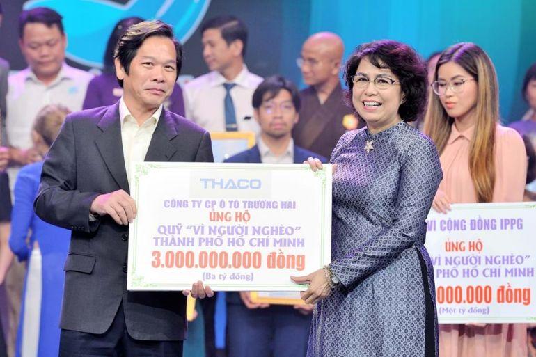 Hơn 17 tỷ đồng được Thaco trao tặng để chăm lo tết cho người nghèo