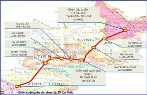 Khởi động hành trình thiết lập đường sắt TP. Hồ Chí Minh - Cần Thơ