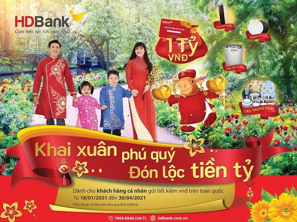 Khai xuân phú quý – Đón lộc tiền tỷ cùng HDBank