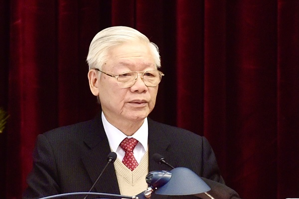 Tổng Bí thư, Chủ tịch nước Nguyễn Phú Trọng đề nghị các đồng chí Trung ương nghiêm túc thực hiện và lãnh đạo tổ chức thực hiện thật tốt Nghị quyết Hội nghị Trung ương 15