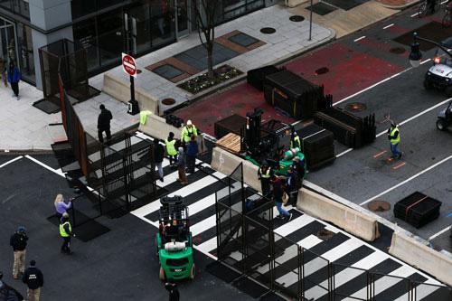 Rào chắn được dựng tại thủ đô Washington hôm 16-1, trước thềm lễ nhậm chức của Tổng thống đắc cử Joe Biden .Ảnh: REUTERS