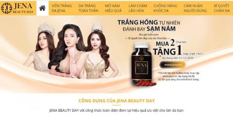 Jena Beauty Day: Quảng cáo sai quy định, lừa dối người dùng và hai website bán hàng của Công ty có dấu hiệu vi phạm pháp luật?