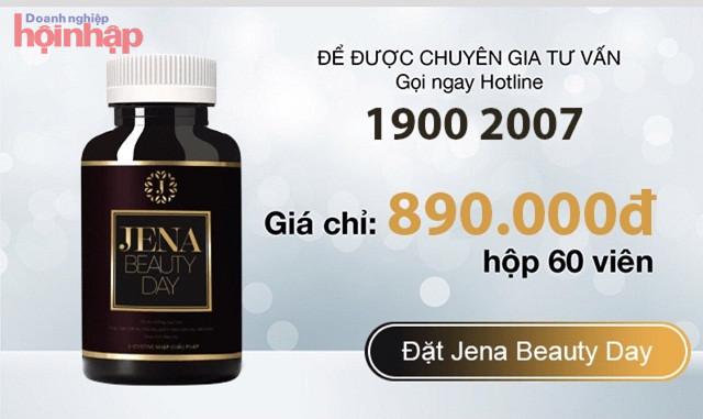 Thực phẩm bảo vệ sức khỏe Jena Beauty Day được rao bán với giá 890.000 đồng/ 1 lọ 60 viên (Ảnh chụp màn hình)