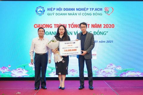 Tập đoàn Hưng Thịnh hỗ trợ 200 triệu đồng thực hiện các hoạt động chăm lo cho người nghèo tết 2021