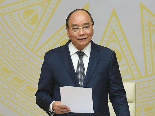 Thủ tướng Chính phủ Nguyễn Xuân Phúc phát biểu tại cuộc họp.