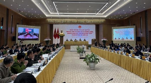 Quang cảnh Hội nghị toàn quốc tổng kết công tác năm 2020 của Ban Chỉ đạo 389 quốc gia.
