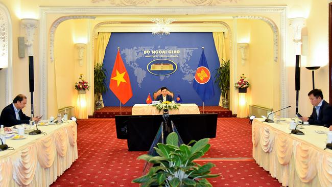 Phó Thủ tướng, Bộ trưởng Bộ Ngoại giao Phạm Bình Minh tại sự kiện ngày 21/1 - Ảnh: Bộ Ngoại giao