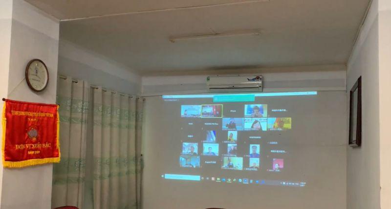 Hội nghị được diễn ra dưới hình thức trực tuyến.