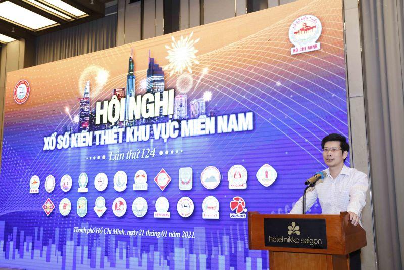 Ông Nguyễn Minh Tiến – Phó Vụ trưởng Vụ Tài chính ngân hàng – Bộ Tài chính phát biểu tại Hội nghị