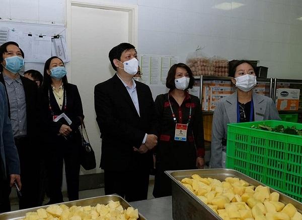 Bộ trưởng Nguyễn Thanh Long kiểm tra nơi lưu trú, ăn nghỉ của đại biểu tham dự Đại hội.