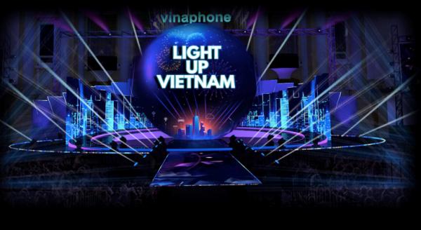 VinaPhone kỷ niệm 25 năm thành lập với đại nhạc hội ánh sáng và 4D Mapping tại đêm giao thừa