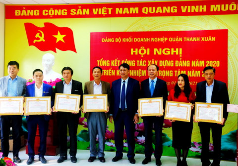 Đảng ủy Khối Doanh nghiệp quận Thanh Xuân – Thành phố Hà Nội: Phát động phong trào thi đua năm 2021