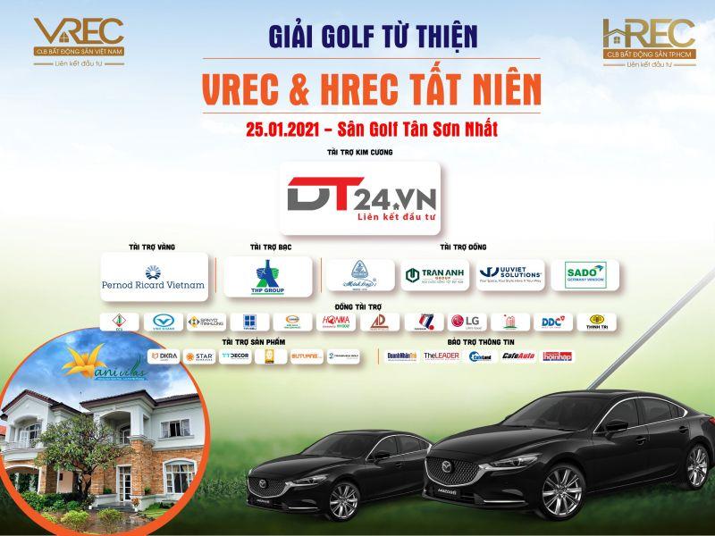 Logo các Nhà tài trợ tại Giải Golf từ thiện VREC-HREC và Tất niên 2020