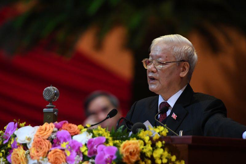 Tổng Bí thư, Chủ tịch nước Nguyễn Phú Trọng nêu một số bài học kinh nghiệm quý báu rút ra từ thực tiễn công cuộc đổi mới. Ảnh VGP