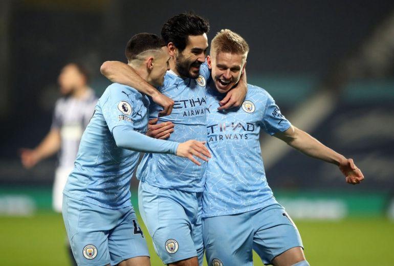 Man City đã tạm thời vươn lên ngôi đầu Ngoại hạng Anh với chiến thắng đậm 5-0 trước West Brom