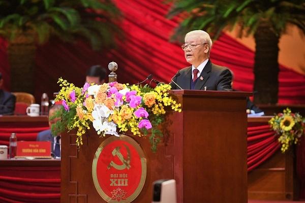 Tổng bí thư, Churtichj nước Nguyễn Phú Trọng tại Đại hội XIII Đảng Cộng sản Việt Nam