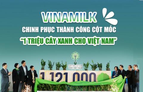 """Vinamilk chinh phục thành công cột mốc """"1 triệu cây xanh cho Việt Nam"""""""