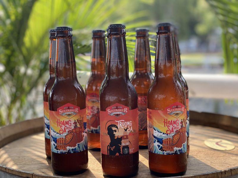 Hai loại bia mang tên hai huyện đảo Hoàng Sa và Trường Sa của Việt Nam