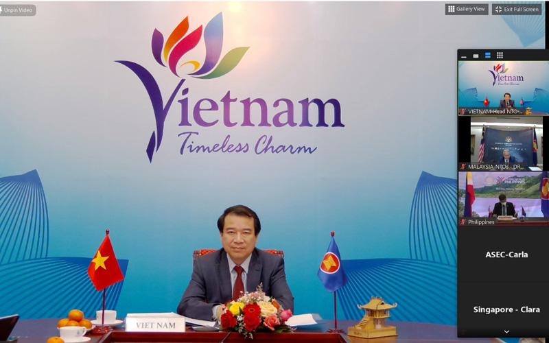 Phó Tổng cục trưởng Tổng cục Du lịch Hà Văn Siêu dự Hội nghị trực tuyến Cơ quan du lịch quốc gia ASEAN lần thứ 53