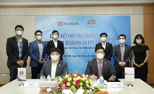 SeABank chính thức ký hợp tác chiến lược với FPT Smart Cloud trong lĩnh vực Trí tuệ Nhân tạo và Điện toán đám mây.